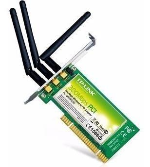 Kit C/ 3 Adaptador Wireless 300mbps Pci Tp-link Tl-wn951n