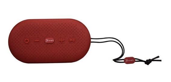 Caixa De Som Bluetooth X-craft X7 Vermelha 10w À Prova De Àg