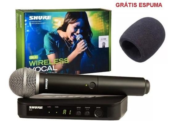 Microfone Sem Fio Shure Blx24br/pg58-j10 De Mão