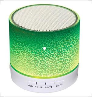 Mini Parlante Bluetooth Portatil Noga Led Verde
