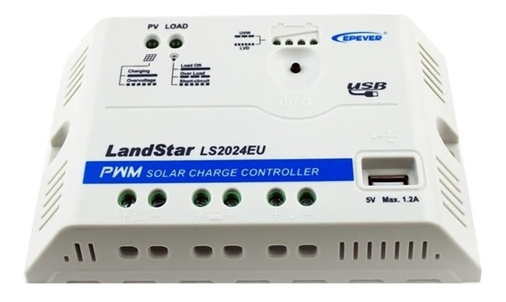 Controlador Carga Epever 20a 12/24v Ls2024eu Profissional