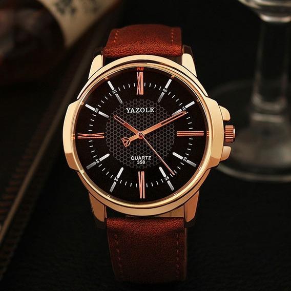 Relógio Original Modelo Pulseira Em Couro Estiloso