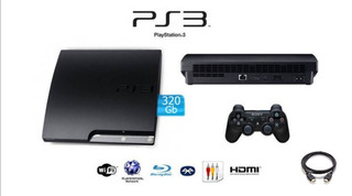 Playstation 3 Slim, Original 320 Gb, 1 Control Y Juegos