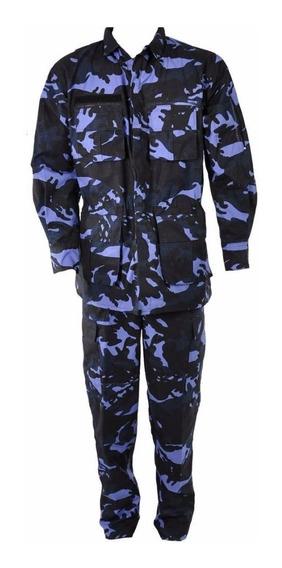 Kit 6 Fardas Táticas Camuflada Azul Woodland Rip Stop