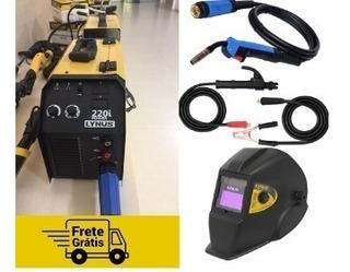 Máquina Inversora De Solda Lis 220i + Mascara Com Regulagem