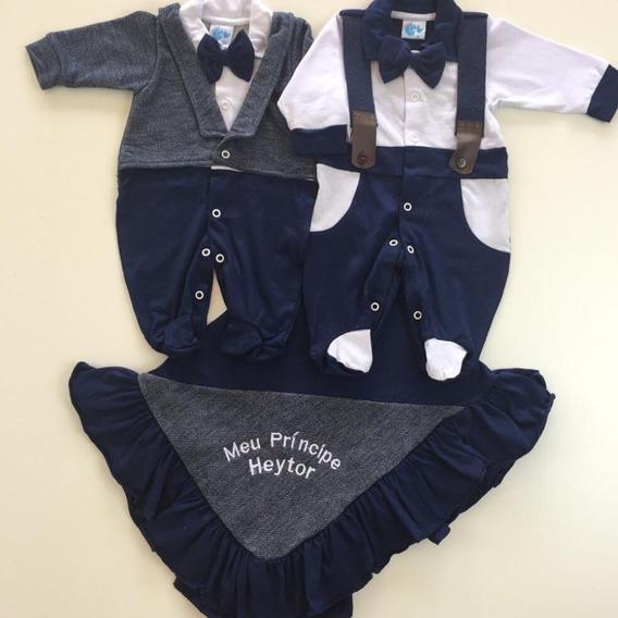 Kit Saida Maternidade Menino Personalizada