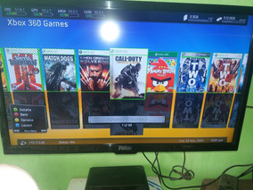 Xbox 360 Slim 1000 Gb Rgh+lt 3.0 + 2 Controles+ Jogos