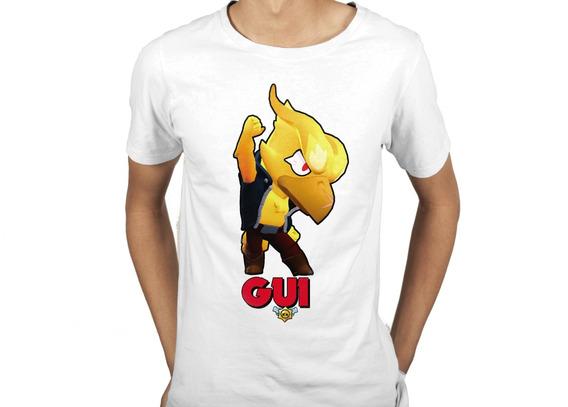Camiseta Infantil Brawl Stars Corvo Fenix Personalizada