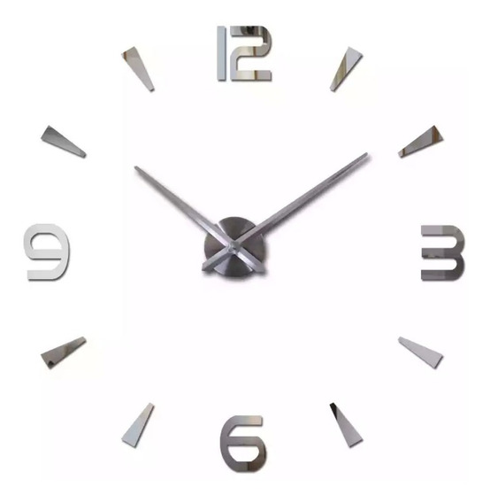 Relógio D Parede Grande 3d Sala Adesivo Decoração