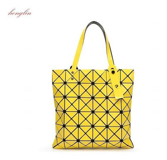 Bolsa Geométrica De Dama Alta Calidad 10 Colores Disponibles