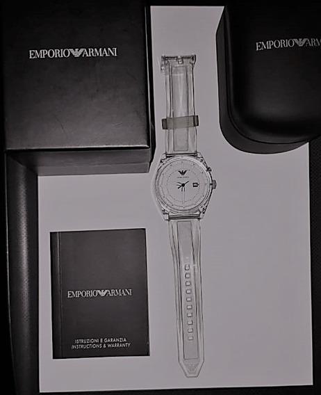 Relógio Armani - Pulseira Transparente