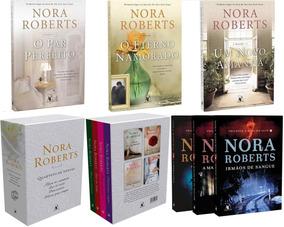 10 Livros Nora Roberts: Quarteto Noivas; Pousada; Sina Sete.