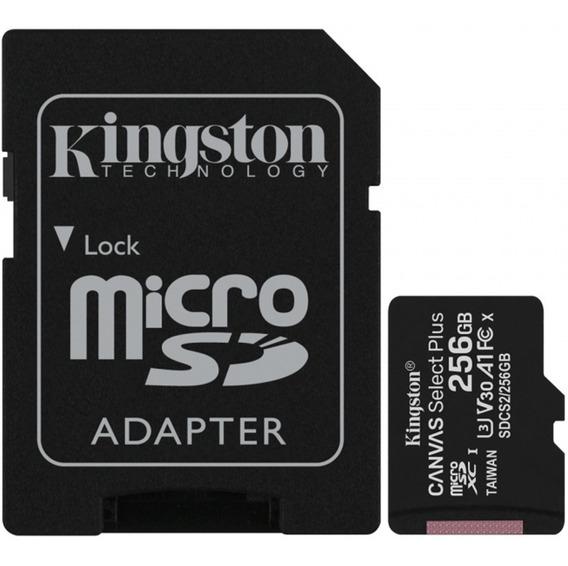 Memoria Micro Sd 256gb Kingston Canvas Juegos A1 Video 4k