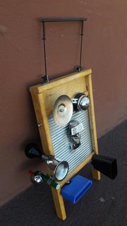 Washboard Tallador Musical Nogalar Super Equipado Armado