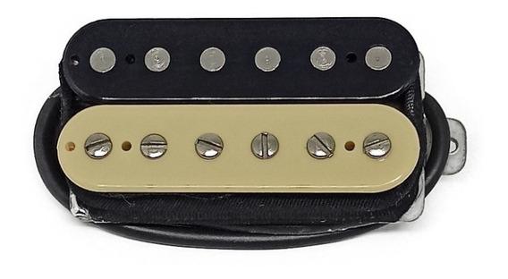 Captador Malagoli Standard Hb4 Zebra Preto/creme P/ Ponte Guitarra