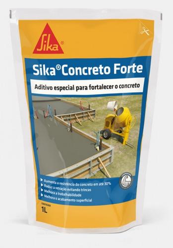 Imagem 1 de 5 de Aumentar A Resistência Do Concreto Sika Concreto Forte 1l