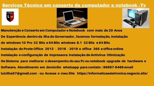 Imagem 1 de 3 de Assistência Técnica Em Micros Computares E Notebook