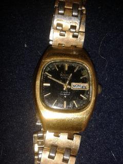 Reloj Seiko Dama Original Con Baño De Oro Automatico