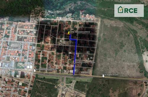 Imagem 1 de 4 de Terreno À Venda, 200 M² Por R$ 24.900,00 - Cajupiranga - Parnamirim/rn - Te0081
