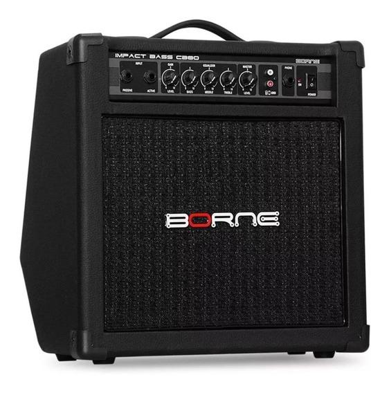 Amplificador Cb80 Cubo Contra Baixo Borne Impact Bass 30w