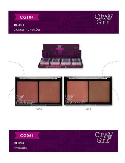 Kit 10 Blush City Girls 2 Cores 2 Versoes Cores Alucinantes.