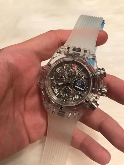 Relógio Hb Cristal Prata 2 Anos 12x S/juros C/frete
