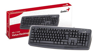 Teclado Genius Kb-110x Pc Ps2 Español - Factura A / B