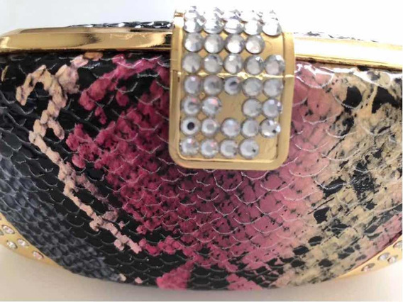 Carterita De Fiesta Clutch Traida De Usa Strass Brillo Chic