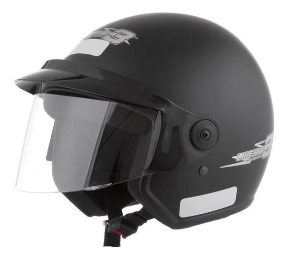 Capacete para moto aberto Pro Tork Liberty Three preto-fosco M