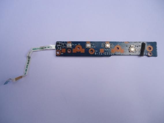 Botão Power Notebook Itautec A7520 E W7535 6-71-e51qs-d02
