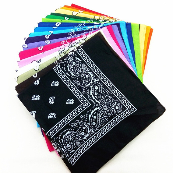 Kit 10 Lenços Bandanas Varias Estampas Rock Fitness Atacado