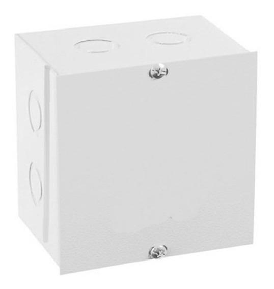 Caixa De Passagem Sobrepor 150x150mm Branca Metal Ip-44 Gomes
