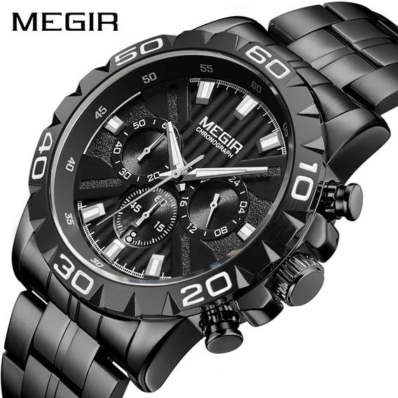 Relógio Masculino Megir 2087 Original Preto