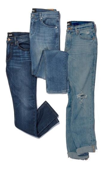 Kit 3 Calças Jeans Masculinas Premium Slim Skinny Casual Top
