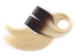 Mega Hair Fita Adesiva Humano Premium Ombre 65cm 60g #4/10