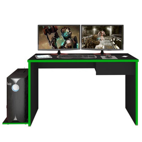 Mesa Para Computador Notebook Desk Game Drx 8000 Preto/verde