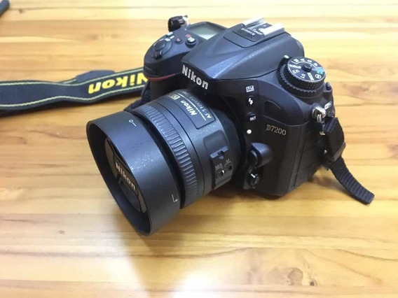 Câmera Nikon D7200 + Nikon 35mm 1.8