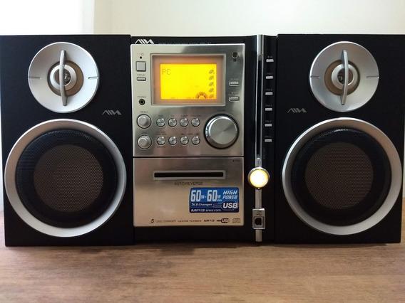 Micro Hi-fi System Aiwa Awp-zx7 - 120 Watts Rms - Saida Sub!