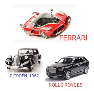 Kit 3 Carros Ferrari - Rolls Royce - Citroen 1952 Miniaturas