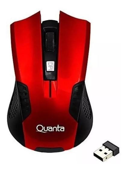 Mouse Gamer Wireless Quanta Usb- Vermelho S/fio Barato Novo