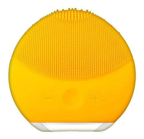 Limpiador Facial Masajeador Recargable Usb Amarillo