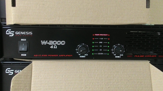 Amplificador/potencia 200w.rms Genesis W-2000