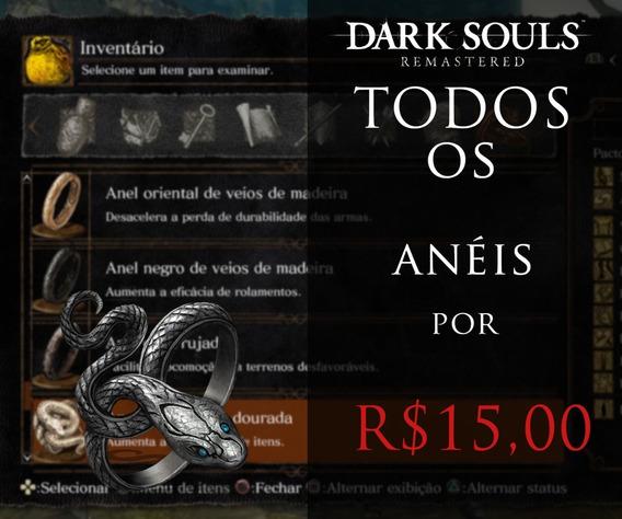 Dark Souls Remastered Ps4 - Todos Os Anéis Do Jogo