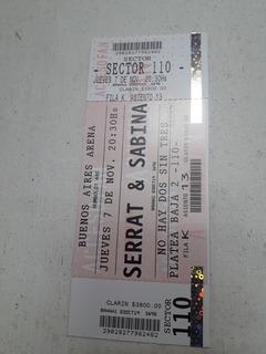 Entrada Para Serrat Y Sabina En B A Arena Jueves 17/11