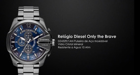 Relógio Diesel Only The Brave Grafite Masculino Dz4329/1an