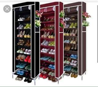Zapatera De 9 Pisos 27 Pares De Zapatos Con Forro Un Color