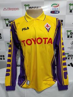 Camisa Fiorentina Amarela 1999-00 Batistuta 9 À P/ Ent