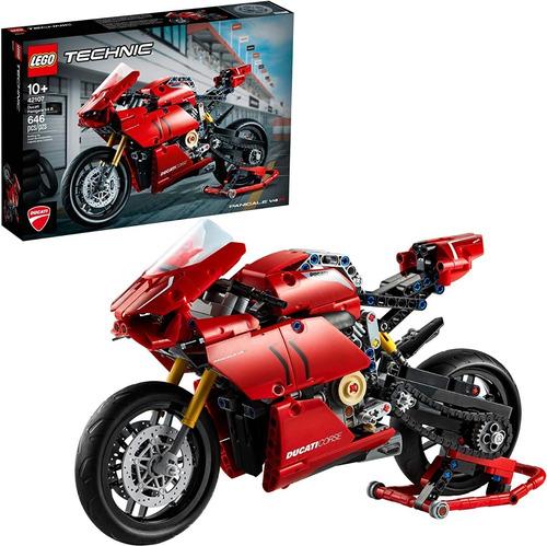 Lego Technic 42107 Ducati Panigale V4r 646 Pzs