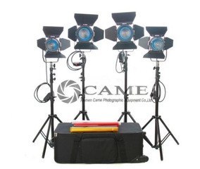 4pcs Light (2 × 650w + 2 × 300w) Fresnel Tungsteno Luces...