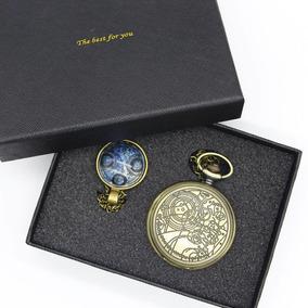 1 Relógio De Bolso Doctor Who + Pingente Com Caixa De Luxo